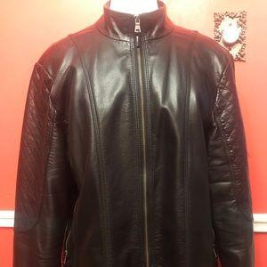 Jessica Simpson vegan leather jacket